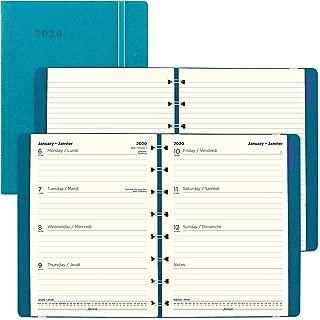 Filofax 2020 Filofax Weekly Planner, English/French, Aqua, 8.25 x 5.75 inches (C1851404-20)
