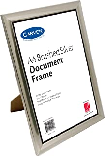 CARVEN QFBRSILVA4 Document Frame, Brushed Silver A4