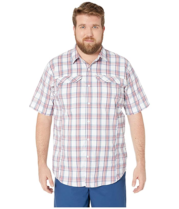 Columbia Big and Tall Silver Ridge Lite Plaid Short Sleeve Shirt (Sunset Red Buff Check) Men