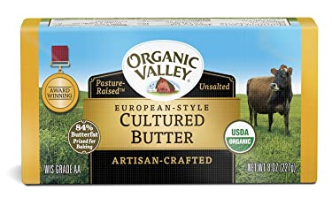 Organic Valley, Organic European-Style Unsalted Cultured Butter - 8 oz