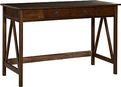 """Linon Home Dcor 86154ATOB-01-KD-U Linon Home Decor Antique Tobacco Titian, 45.98"""" x 20"""" x 30"""" Desk,"""