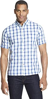 Van Heusen Men's Slim Fit Never Tuck Short Sleeve Button Down Shirt