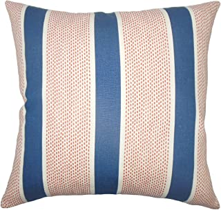 The Pillow Collection Bandele Striped Bedding Sham Sapphire King/20