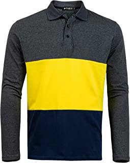Short Sleeve Polo Shirts Casual Cotton Modern Fit Color Block Rugby Polo T-Shirts Tops