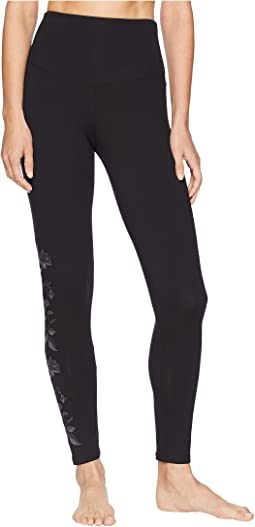 Signature Waistband Leggings Floral Embroidery