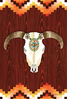 Toland Home Garden Southwestern Skull 12.5 x 18 Inch Decorative Colorful Native Southwest Country Garden Flag