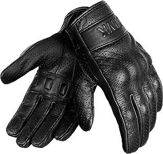 HWK Motorcycle Gloves Men Motocross Motorbike Tactical Moto Riding Biker Leather Driving Racing Gloves … (L)