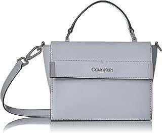 Calvin Klein womens Calvin Klein Raelynn Saffiano Top Handle Flap Crossbody