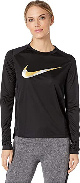 Miler Metallic Long Sleeve Top