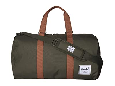 Herschel Supply Co. Novel (Dark Olive/Saddle Brown) Duffel Bags