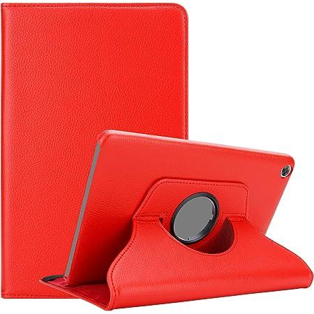 """Cadorabo Custodia Tablet per Huawei MediaPad M5 / M5 PRO (10.8"""" Zoll) in ROSSO PAPAVERO – Copertura Protettiva in Stile Libro SENZA Auto Wake Up con Funzione Stand e Cerniera Elastico"""
