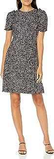Lark & Ro Women's Florence Puff Half Sleeve Empire Waist Fit and Flare Dress