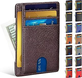 Tinya Slim Wallet Men Women: Compact RFID Blocking Travel Minimalist Card Holder, 04-pu Coffee, Small