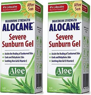 Alocane Severe Sunburn Gel, with Lidocaine, Vitamin E & Brazillian Aloe, Pain, Itch, After Sun Relief Help Soothe, Repair,...