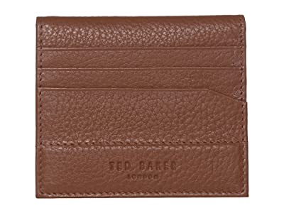 Ted Baker Steemer Leather Bifold Card Holder (Tan) Wallet Handbags