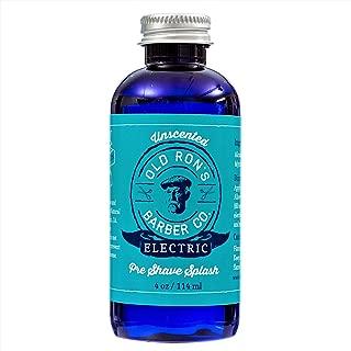 Electric Pre-Shave Splash - Unscented - 4 Oz Bottle
