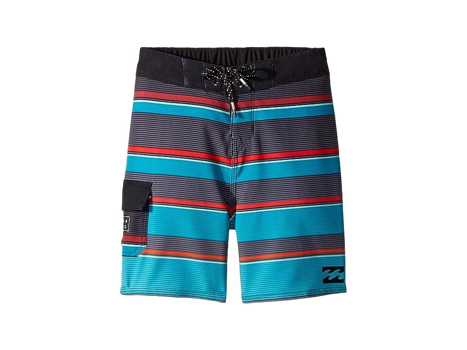 Billabong Kids All Day X Stripe Boardshorts (Toddler/Little Kids) (Aqua) Boy