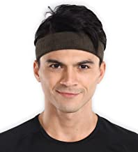 Sports Sweatband - Sweat Headband for Men & Women - Stretchy & Sweat Absorbing Cotton Terry - Perfect for Basketball, Tennis, Soccer, Running & Working Out