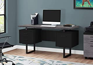 Monarch Specialties Computer Desk with Drawers - Contemporary Style - Home & Office Computer Desk with Metal Legs - 60