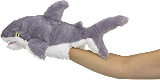 """Eco Pals Shark Puppet by Wildlife Artists, Stuffed Animal Plush Toy Puppet 18"""", Eco-Friendly, Embroidered Eyes and Noses, ..."""