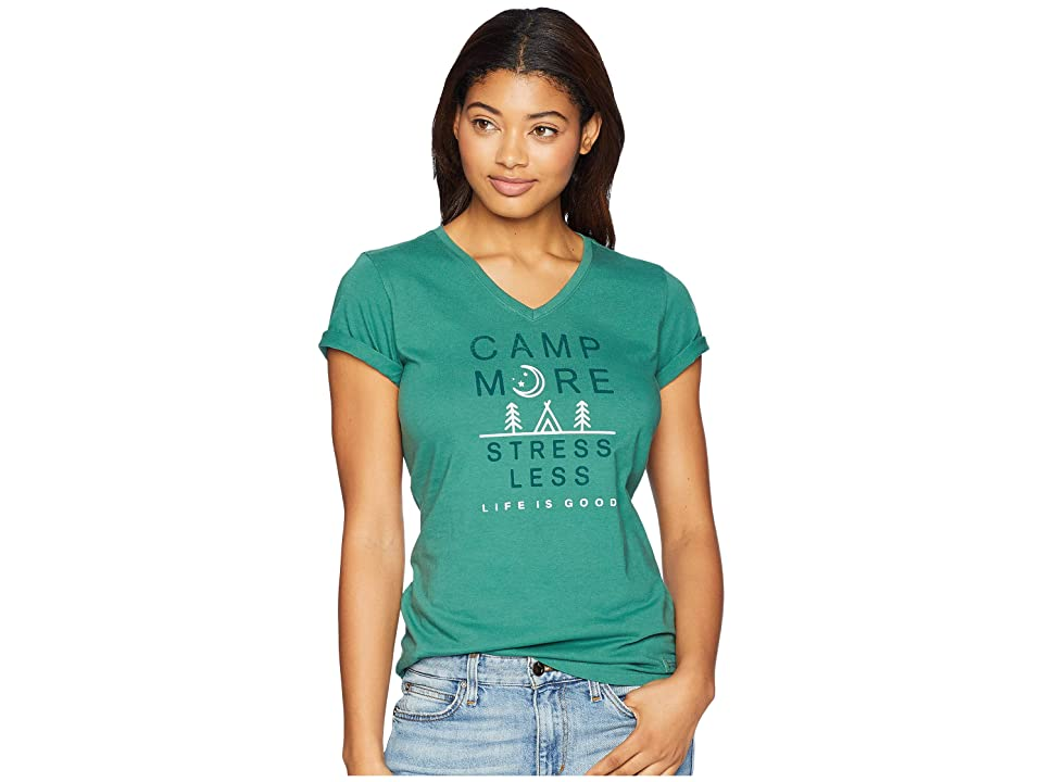 13c40692da9 Life is Good Camp More Crusher Vee T-Shirt (Forest Green) Women