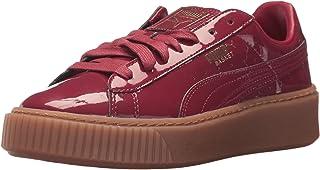 PUMA Womens Basket Platform Patent Wn