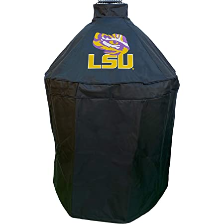 Holland Bar Stool Co. LSU Grill Cover for Big Green Egg, Kamado Grill Cover, Big Green Egg Accessories, Collegiate Grill Covers, LSU Grill Accessories, Kamado Cover, Durable Grill Cover