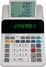 $47 » Sharp El-1501 Compact Cordless Paperless Large 12-Digit Display Desktop Printing Calculator That Utilizes Printing Calcula...