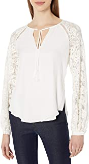 Haute Hippie Women's Lace Combo Top