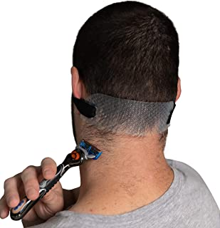 GroomTemp Adjustable Neckline Shaving Template and Hair Trimming Guide | DIY Hands-Free Trim, Cut, and Shave Use for Clean...