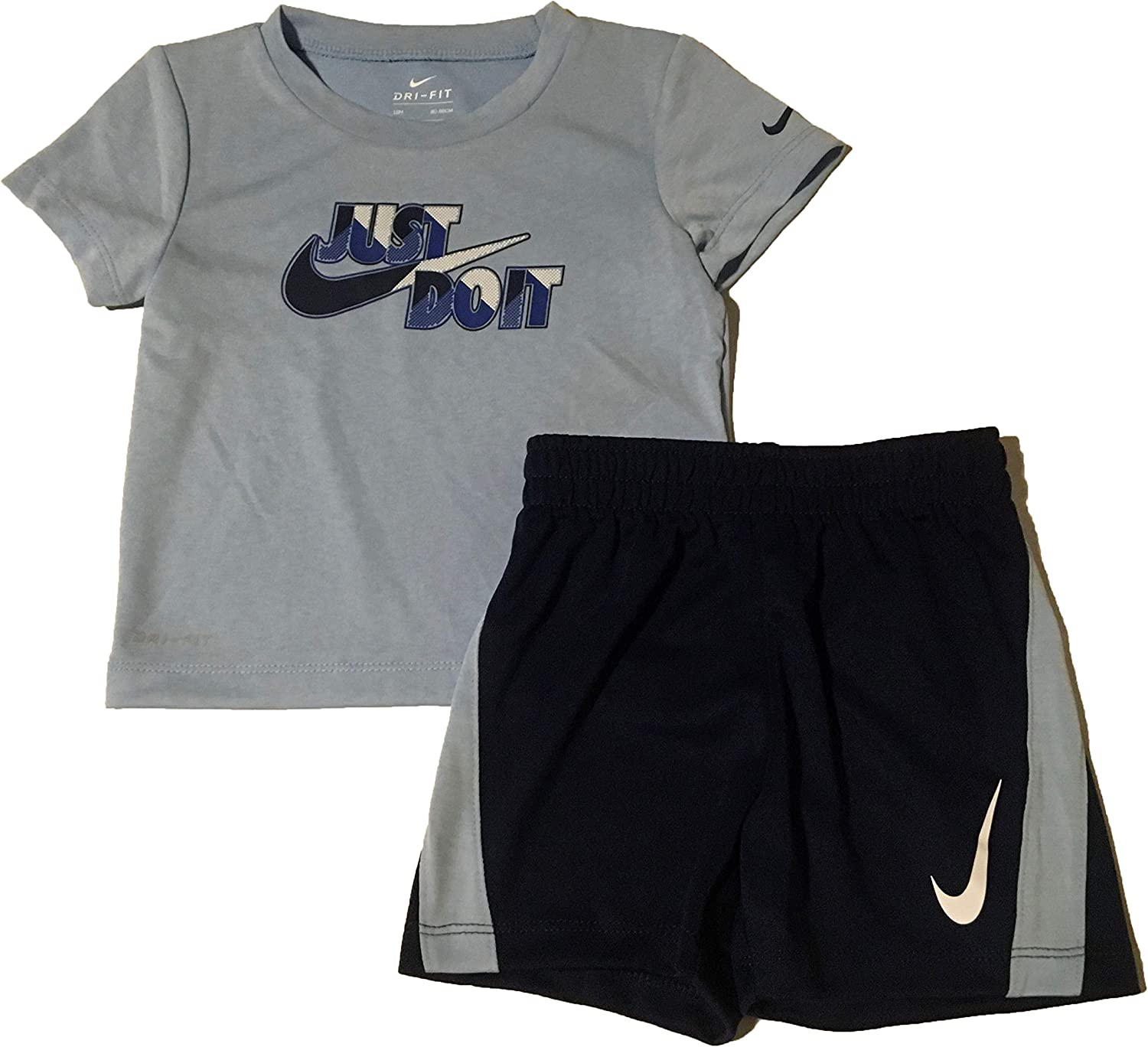Nike Just Do It Infant Boys' T-Shirt and Shorts Set Blue Void Size
