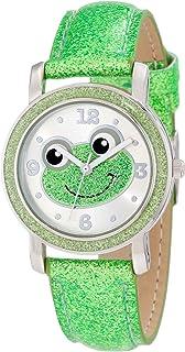Frenzy Kids' FR465 Green Glitter Strap Frog Watch