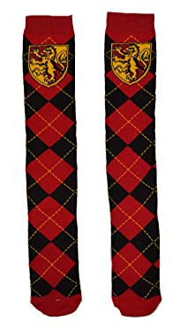 Harry Potter Gryffindor School Uniform Knee High Socks, Red, 9-11