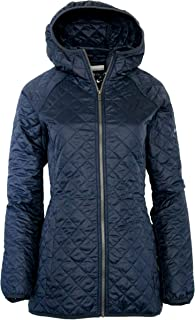 Columbia Women's Blue Square Lodge MId Lightweight Omni Heat Hooded Jacket (XS, Nocturnal)