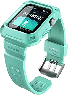 SUPCASE [Unicorn Beetle Pro] Case for Apple Watch 4 / Apple Watch 5 [44mm], Rugged Protective Case with Strap Bands for Apple Watch Series 4 2018 / Series 5 2019 Edition (MintGreen)