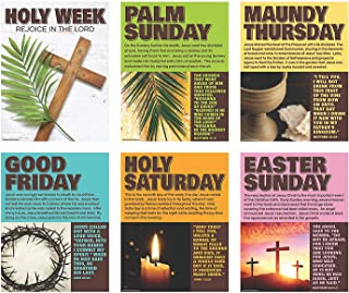 Holy Week Poster Set - Sunday School Educational and Easter Decor - 6 Posters