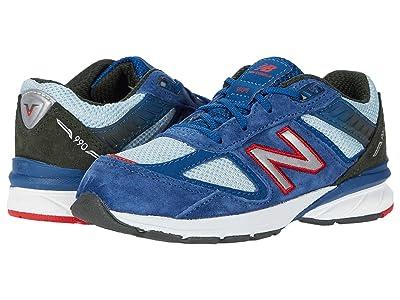 New Balance Kids 990v5 (Infant/Toddler) (Andromeda Blue/Team Red) Boys Shoes