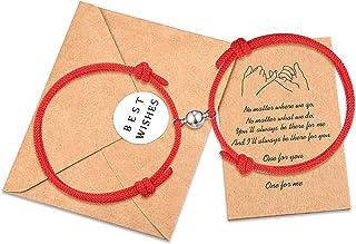 KINGSIN الأزواج المغناطيسي سحر سحر حبل مضفر قابل للتعديل مجوهرات هدايا مجموعة للعشاق النساء الرجال