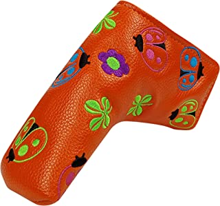 MAZEL Golf Putter Head Cover Embroidered Blade Headcover,Fit for Taylormade Titleist Scotty Cameron Callaway Ping