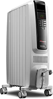 De'Longhi Oil-Filled Radiator Space Heater, Quiet 1500W, Adjustable Thermostat..
