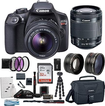 Canon EOS Rebel T6Cámara réflex digital de 18.0Mp W/EF-S 18–55mm IS II + EF 75–300mm III de lentes + Canon Gadget Bag & Tarjeta de 32GB SD Bundle
