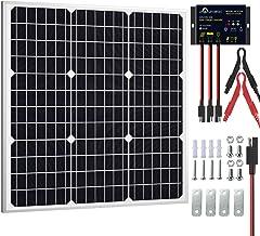SOLPERK 50W Solar Panel Kit 12V, Monocrystalline Solar Panel Charger Off Grid with Intelligent Waterproof Controller for B...