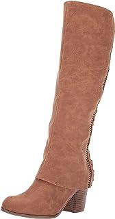 Fergalicious حذاء برقبة طويلة حتى الركبة للنساء