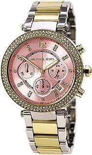 280ad06075ef Michael Kors Parker Pink Dial Two Tone SS Quartz Chrono Ladies Watch MK6140