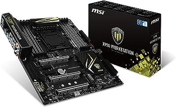 MSI Intel X99 LGA 2011 DDR4 USB 3.1 Form Factor ATX Motherboard (X99A WORKSTATION)