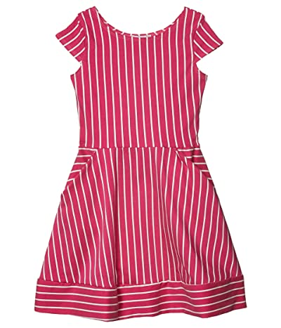fiveloaves twofish Kate Stripe Fit-and-Flare Dress (Big Kids) (Pink) Girl