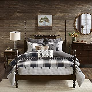 MADISON PARK SIGNATURE Urban Cabin Cotton Jacquard Comforter Set, King, Brown