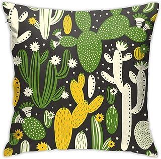 WOWUSUO Cactus Pillowcase Plant Decorative Throw Pillow Cases Cushion Cover Square Pillow Covers for Car Sofa Gift Home De...