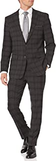 Men's Two Piece Finished Bottom Slim Fit Suit