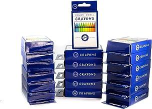 Colores Swell Crayons paquetes a granel – 18 cajas de 24 ceras de colores vibrantes de calidad de profesor, paquete de clases duraderas para niños estudiantes y fiestas